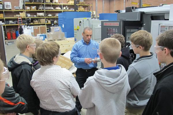 Ellison Technologies president Derek Armbruster shows students around the shop floor.Schools2SkillsWhat: A series of manufacturing plant tours in Waukesha County geared toward high school students, their parents and educators in an effort to improve public perception of the industryPresented by: Waukesha County Business AllianceFunding: $20,000 for 13 days of tours in spring 2013. Funding comes from area businesses, educational institutions and community groups.Impact: More than 350 students participated in inaugural spring 2012 series. Expected to reach more than 600 in spring 2013.Source: Waukesha County Business Alliance