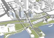 Plans call for making the lakefront area a more attractive and walkable district.