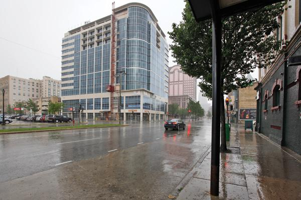 Construction on the Staybridge Suites hotel in downtown Milwaukee was halted in 2009 over financial problems.