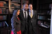 Woodson with Harini Rao (left) and Matt Wilkinson.