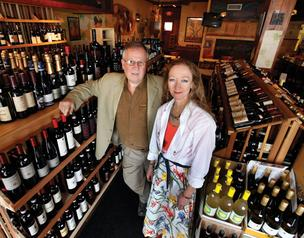 John and Anne Nehring, seen here at their now-defunct restaurant Thirst & Vine