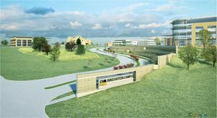 Innovation Campus is north of the commercialism between West town Plank Road and Interstate 94.