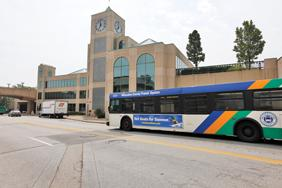 The Downtown Transit Center is at 909 E. Michigan St. on the downtown lakefront.