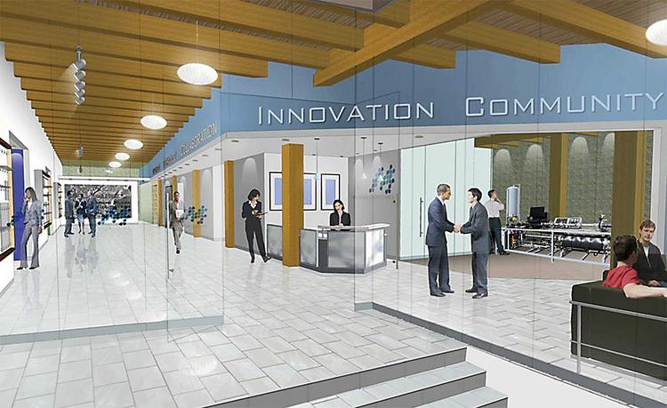 A rendering of the Water Center interior by Kahler Slater Inc.