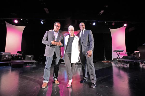 """Karen Ottoson (with David Guerrero, left, and Darrell Hines II)...""""We know there is talent in Milwaukee. We want to take that and bring national awareness to Milwaukee."""""""