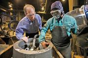 """Ken Kurek (left)...""""We focus on the low volume, the very difficult products to make."""""""