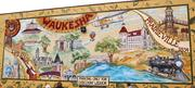 One of the firm's most visible projects is the 20-foot by 80-foot Waukesha Historical Mural Collaborative Project on the side of Discount Liquor, 919 N. Barstow St.