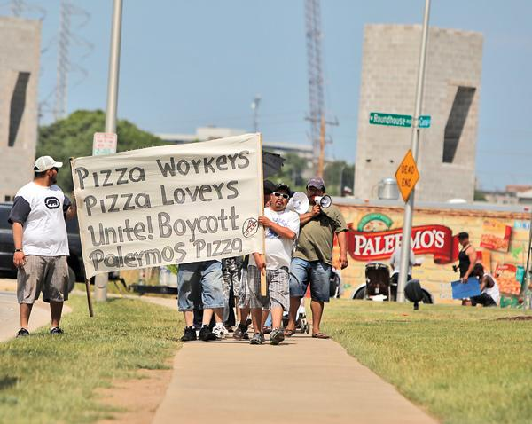 Dozens of Palermo workers have been on strike since early June.