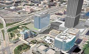The new 833 East office tower would be a key property in the redevelopment of Milwaukee's downtown lakefront area.