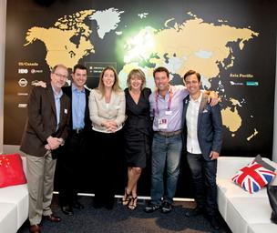 More than 100 GMR Marketing employees are working at the Olympics in London.