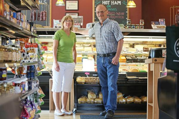 """Linda Lutz (left, with Howard Lutz) . . . """"I think (neighbors) really will appreciate a little cafe where they can have sandwiches and coffee."""""""