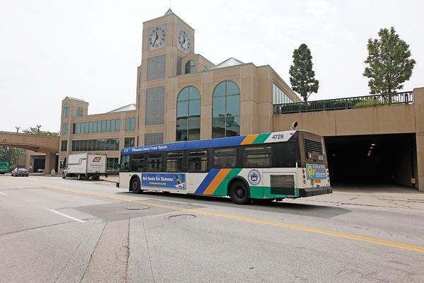 County officials are looking at options for redeveloping the Downtown Transit Center.