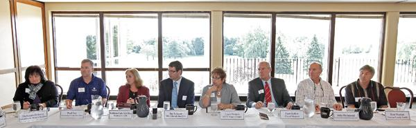 Business, education and government leaders took part in the Ozaukee County Roundtable Aug. 22 in Mequon.