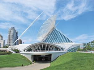 The Milwaukee Art Museum's Quadracci Pavilion debuted in the fall of 2001.