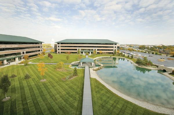 The four-building Honey Creek Corporate Center is 20 percent vacant, according to Xceligent and the Commercial Association of Realtors Wisconsin.