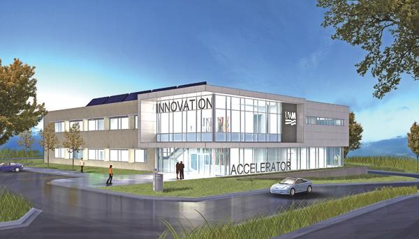 The building, named the Institute for Industrial Innovation, will have lab space for the university and private companies.