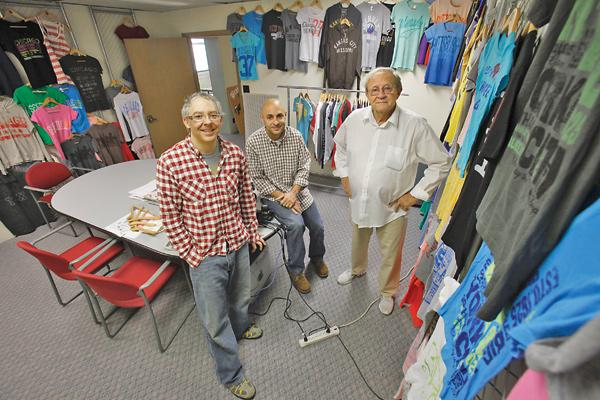 """Frank Keppler (left, with George and Rick Keppler)...""""If the graphics are right, the colors are right, it doesn't matter if that (shirt) says 'Philly' or 'Mickey (Mouse).'"""""""