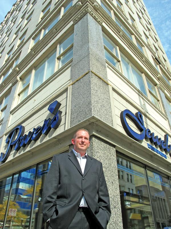 General manager Chad Ahrens in front of the former Best Western in downtown Milwaukee, now a Fairfield Inn & Suites.
