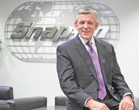 CEO Nick Pinchuk said Snap-on shrugged off a tough macroeconomy and political headwinds to grow sales in the fourth quarter and all of 2012.
