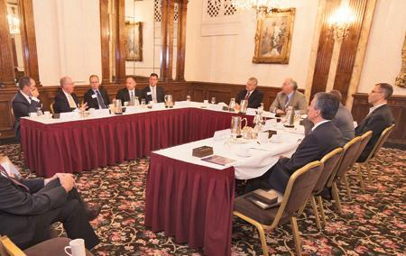 Private equity roundtableEight Milwaukee-area business executives attended The Business Journal's Nov. 1 private equity roundtable at The Pfister Hotel in downtown Milwaukee.• John Beagle, Grace Matthews Inc.• Randy Mehl, Baird Capital Partners• Ron Miller, Cleary Gull Inc.• Greg Myers, Mason Wells• Cory Nettles, Generation Growth Capital Inc.• Steve Peterson, Brass Ring Capital Inc.• Paul Sweeney, PS Capital Partners LLC• Kent Velde, Lakeview Equity Partners LLC