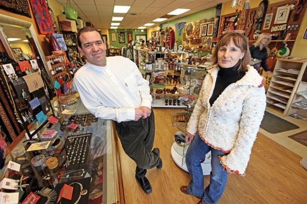 """Gail Bennett-Christian (right, with Allen Christian) ...""""I'm thinking this is right on. If not, I was thinking maybe a little more (for the local retailers)."""""""