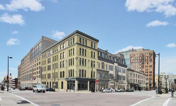 Developers hope to open the Marriott hotel in downtown Milwaukee in 2013.