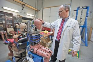Frank Pintar is co-founder of the Medical College of Wisconsin's crash-test lab.