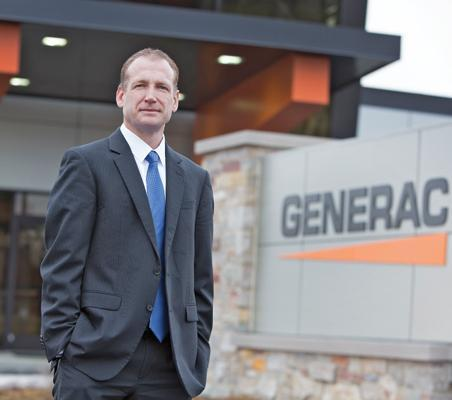 """I think we can really add scale to this company over the next few years.""Executive of the Year: Public CompanyAaron JagdfeldPresident and chief executive officer, Generac Holdings Inc.Age: 41Family:  Wife, Christy, an accountant; daughters, Abby, 16, Meghan, 11; son, Adam, 14 Education: Bachelor of business administration degree in accounting, University of Wisconsin-WhitewaterGrew up: Milwaukee and HartlandWhat book is on your nightstand? ""Actually on my tablet, as I am trying to go paperless, is 'The Complete Short Stories of Ernest Hemingway.'"" What other profession would you like to try and why? ""For the longest time, I really wanted to be a high school teacher so that I could teach U.S. history and coach high school track. I've always been a big history buff and the desire to coach is something that comes from my high school and college track career."" What was your first job? Newspaper deliveryFavorite film? ""Planes, Trains and Automobiles""What's something about you that would surprise people? ""I really hate to golf. Most people assume that a CEO spends all of his or her spare time on a golf course, but the truth is that I would rather be running or biking."" Favorite vacation spot?  ""We are fortunate to have a place in the north woods of Wisconsin that has been in my wife's family since the 1940s and even if it's only for a weekend, the opportunity to unwind and relax on Pelican Lake has always been my favorite retreat."" Biggest perk of your job? ""That one is easy: I get to spend every day doing something I really enjoy."" What is playing on your iPod? ""Every Beatles song imaginable"" iPhone or Blackberry? BlackBerry. ""I'm still tied to the physical keyboard on the BlackBerry. I just haven't found myself to be quite as productive with emails on an iPhone."""