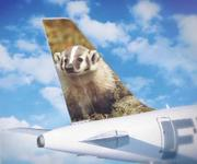 "Frontier Airlines has added a badger to its ""spokesanimals"" campaign."
