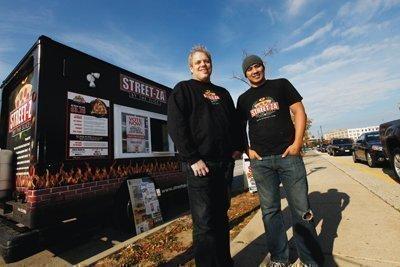 Scott Baitinger, left, and Steve Mai of Streetza Pizza