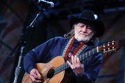 Willie Nelson performs at the Farm Aid 25 concert.