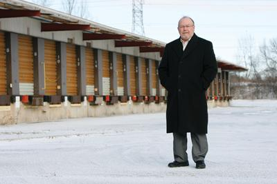 John Stibal, West Allis director of development, at the Yellow Freight terminal site in 2010.