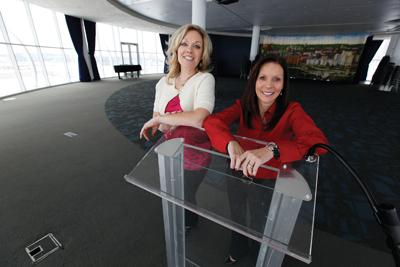 """Cheryl McShane (right, with Denice Waldhuetter) . . . """"The city is ready for something like this."""""""