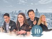 Forty under 40 winners (from left) Austin Ramirez, Sarah Grooms, Matt Rinka and Jessica Lochmann