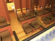 Rendering of theater boxes at the Bradley Center