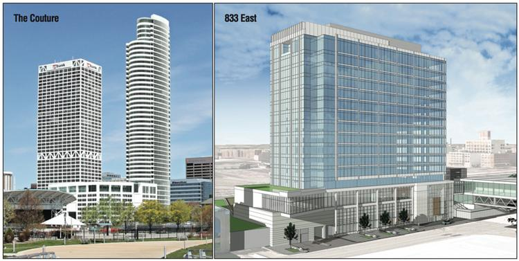 The Couture and 833 East are proposed for Milwaukee's lakefront.