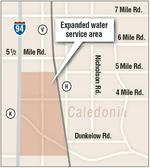 Caledonia seeks water deal approval for I-94 corridor tract