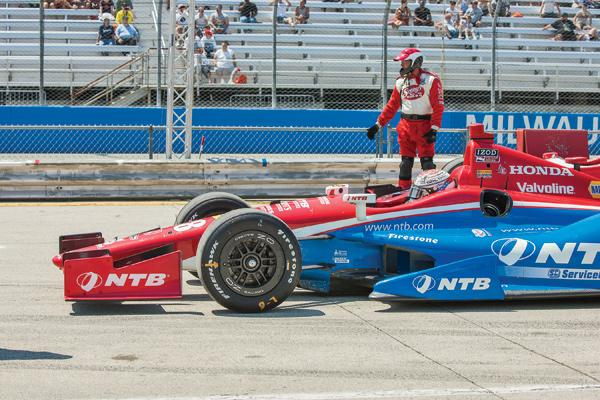 Milwaukee Indyfest 2012 culminated in a race at The Milwaukee Mile at State Fair Park.