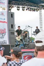 The band Smash Mouth performed a post-race concert for the crowd.