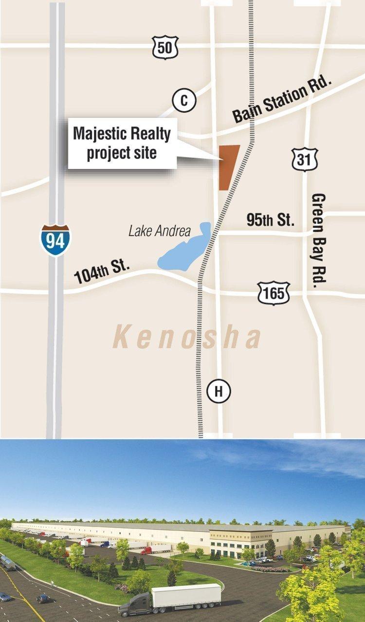 Majestic Realty Co. is seeking tenants for its Kenosha County distribution center.