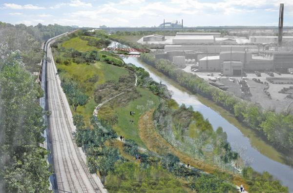 Work will begin next spring to convert a 24-acre rail yard in the Menomonee Valley into park space.