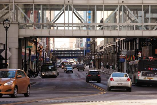 Downtown Milwaukee west of the river recorded the highest office vacancy rate in December in southeast Wisconsin.