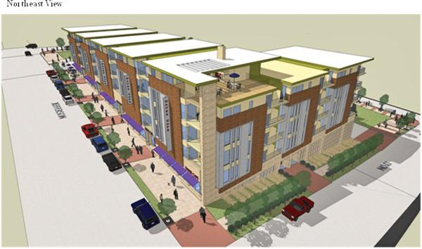 The first phase of Wangard Partners' Park East Square project could be available for occupancy by early 2014.