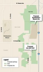 Northwestern Mutual to swap Oak Creek land