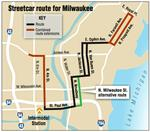 Changed downtown streetcar route could shave costs
