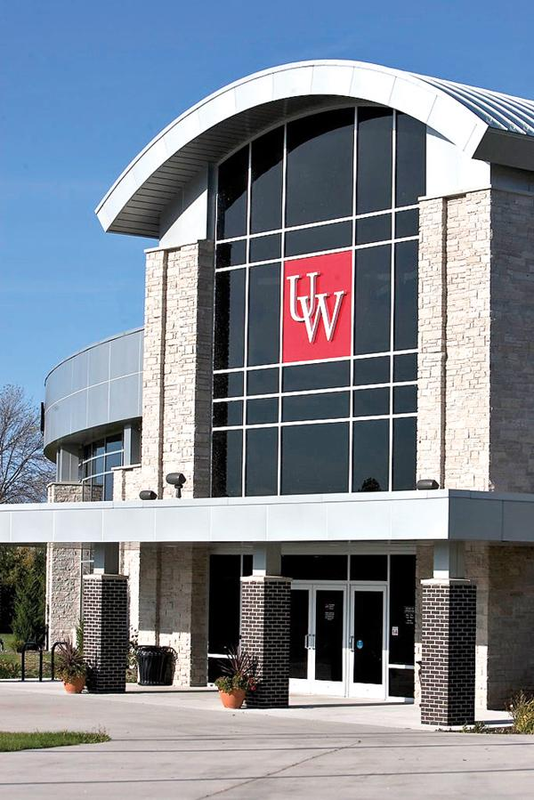 UW-Sheboygan's state-of-the-art University Library is housed on the first floor of the Acuity Technology Center (above).