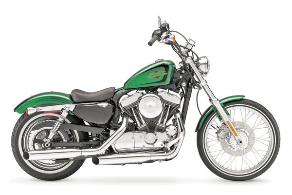 Harley-Davidson has introduced a retro Hard Candy Custom styling option for its 2013 lineup that features metal flake paint and brilliant chrome, like on this XL 1200V Seventy-Two motorcycle.