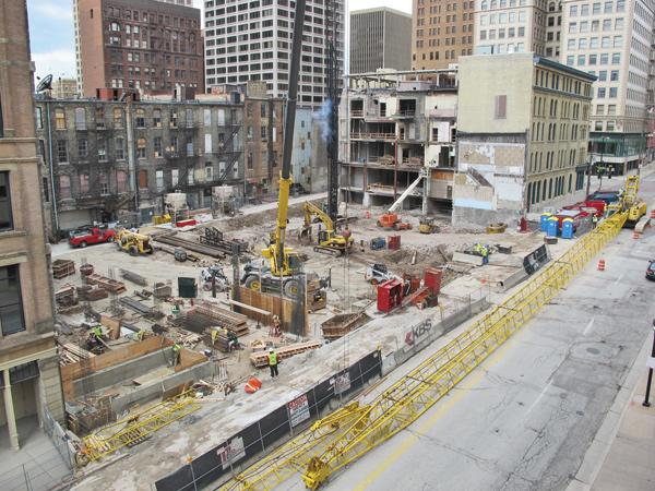 The $54 million Marriott is slated to open in late 2013.