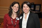 Meredith Reed, left, of Randa Solutions and Aimee Baker of Infoworks.
