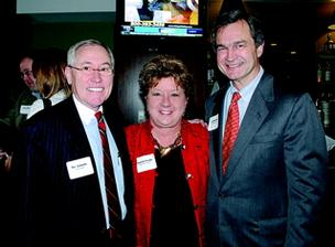 Ron Samuels, left, of Avenue Bank, Deb Varallo of Varallo Public Relations and Art Rebrovick of NMG Advisers Inc.